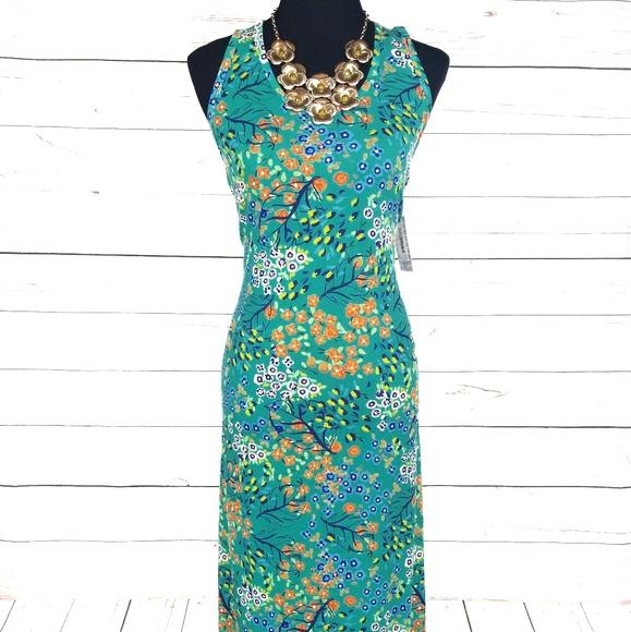 277341e82d3 LuLaRoe Teal Floral Dani Dress Size XL